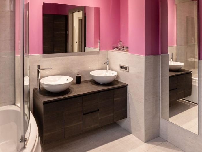 Progetto terminato: bagno padronale con mobile doppio lavabo