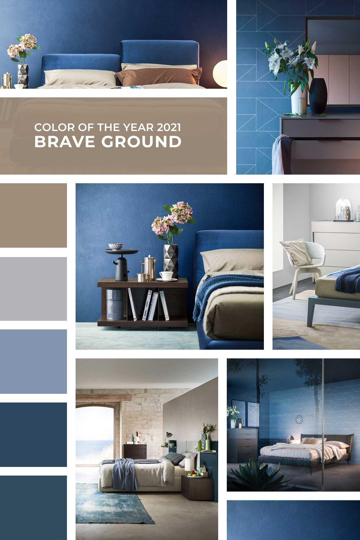 Moodboard blu + tortora Brave Ground
