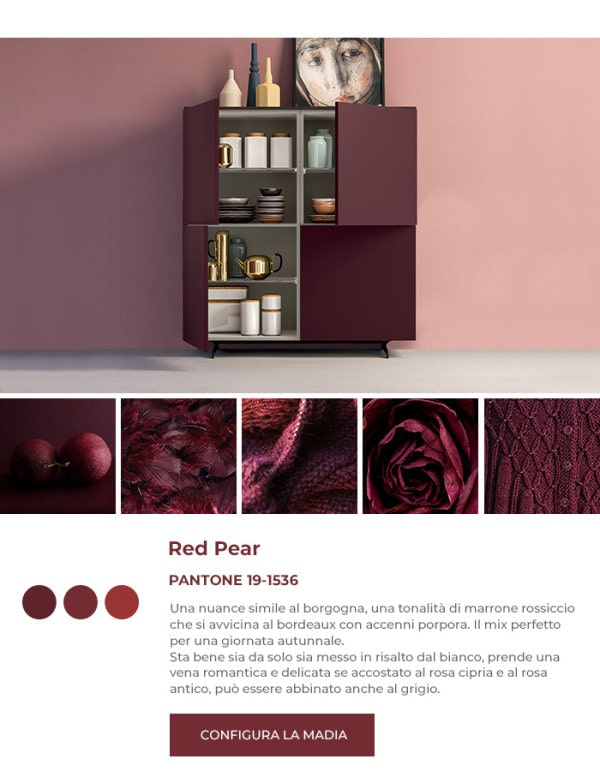 Madia rossa in Pantone Red Pear