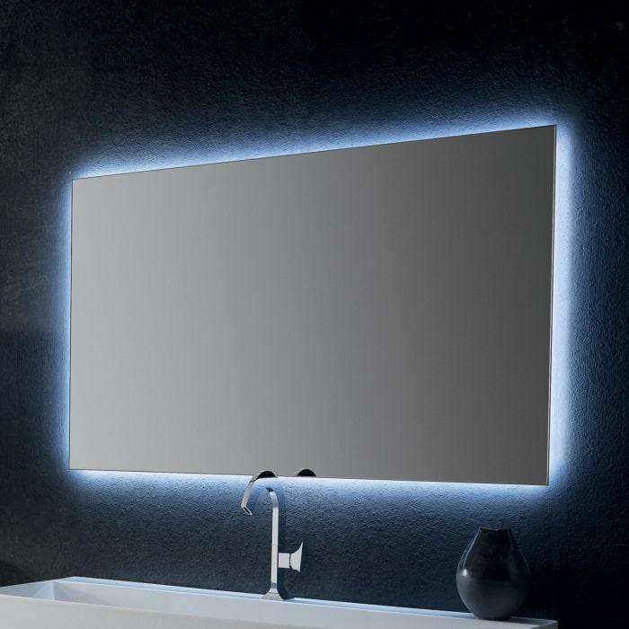 Specchiera rettangolare con illuminazione LED Net