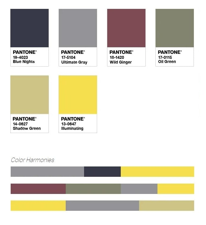 Palette Pantone Sun and Shadow
