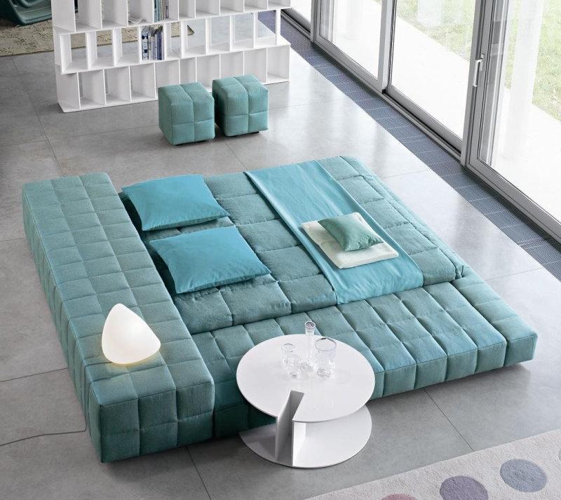 Letto Squaring, particolare letto futon di design