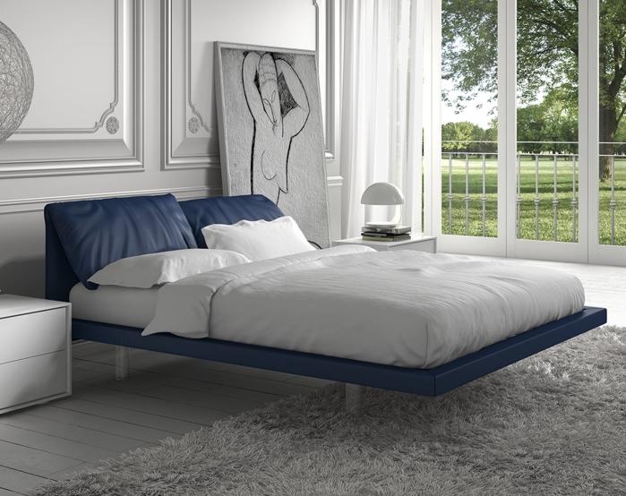 idee letti sospesi illusioni ottiche in camera da letto