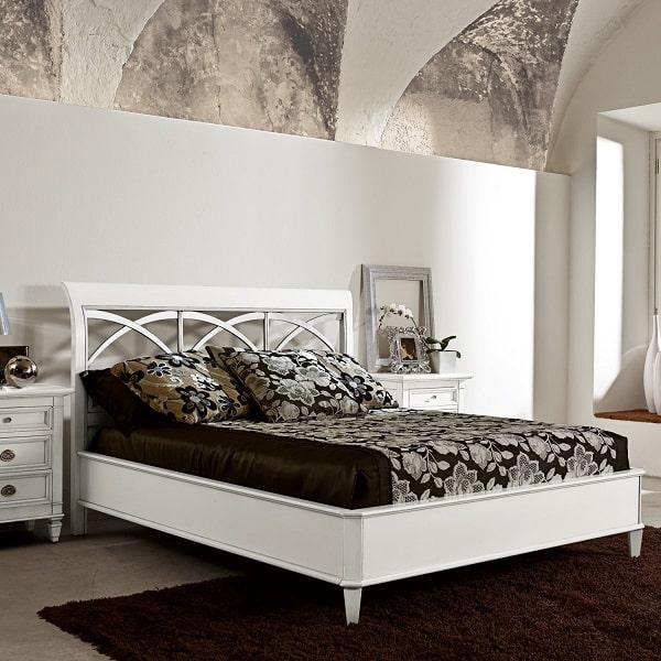 Letto shabby in legno bianco Arco