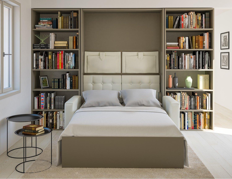 Idee soggiorno trasformabile in camera quali arredi - Letti a scomparsa a parete ...