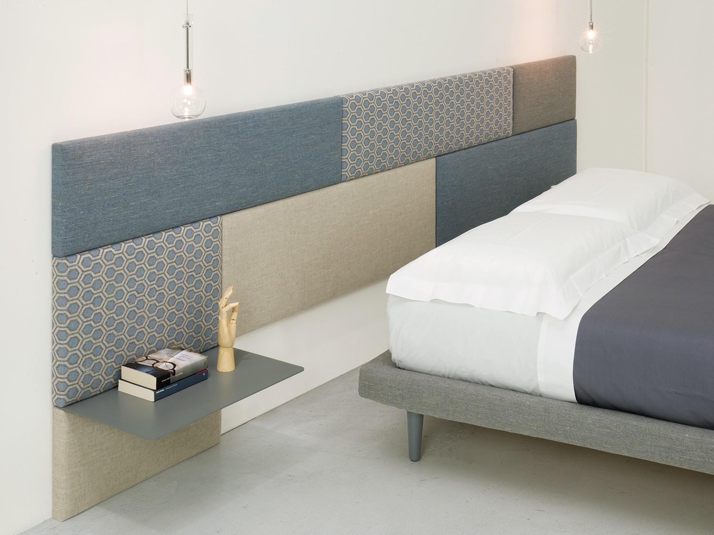 Idee testiera boiserie per un letto su misura arredaclick - Testate letto con cuscini ...