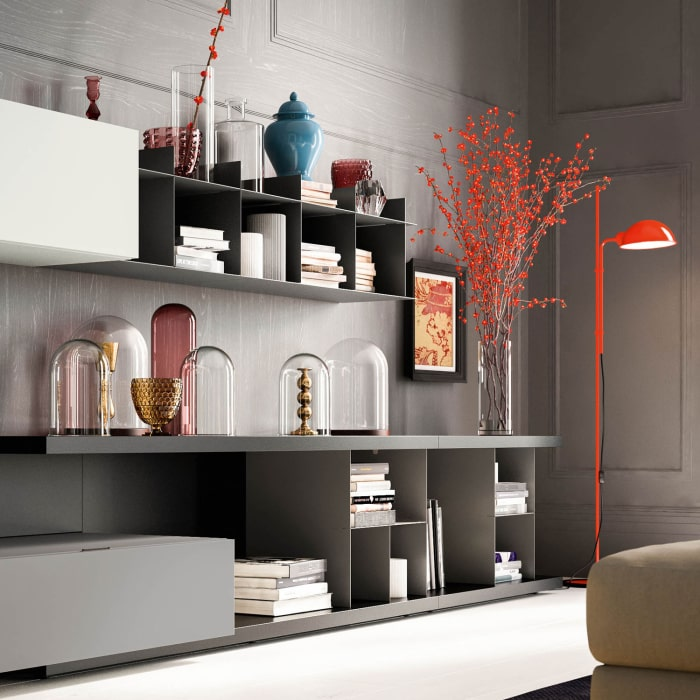 Mensola metallica per il soggiorno Plan