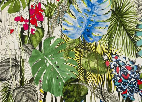 Tessuto di rivestimento Jardin Eco'chic del pouf Hollywood di Bonaldo