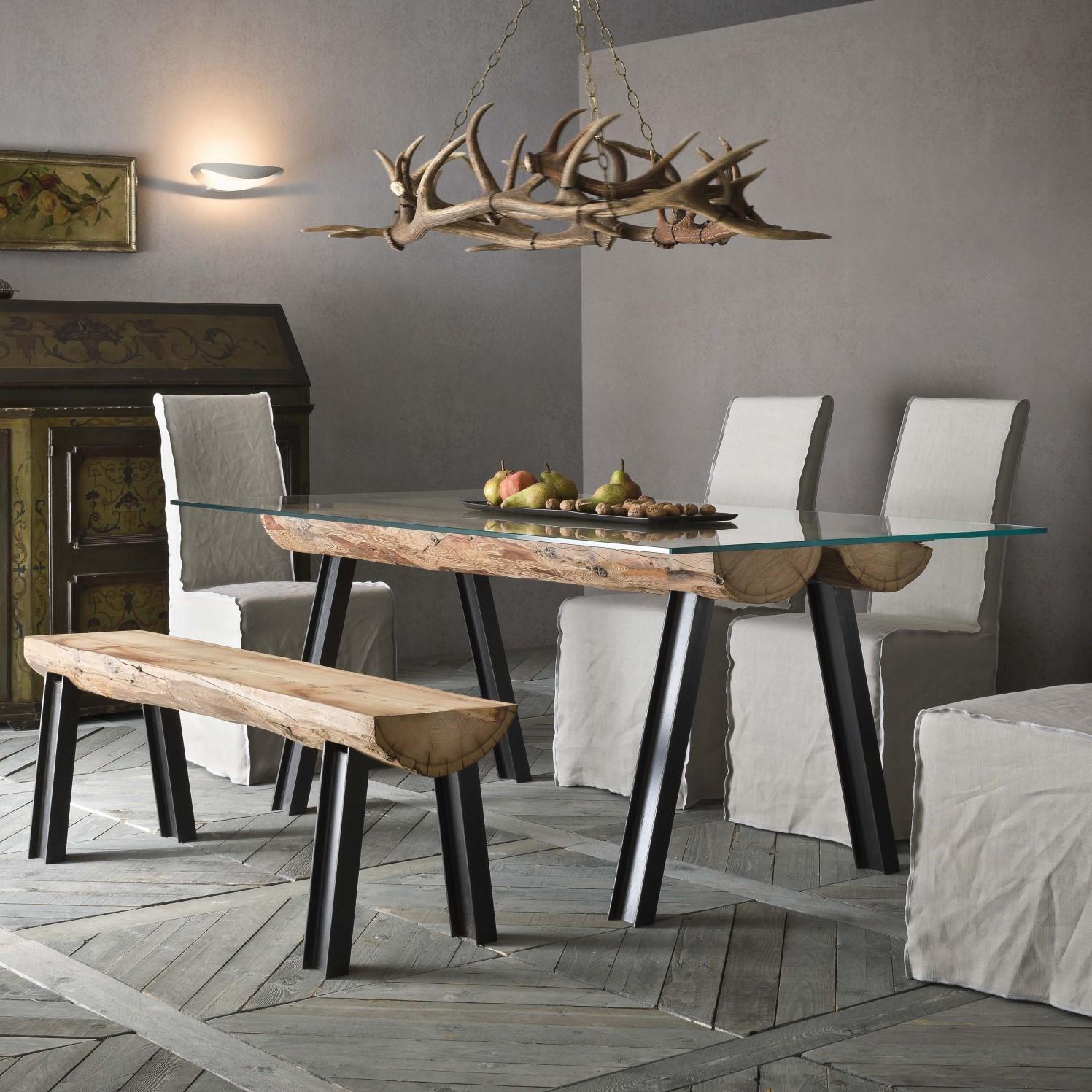 Idee panche e panchette per la casa dove metterle - Tavoli da pranzo ferro battuto e vetro ...