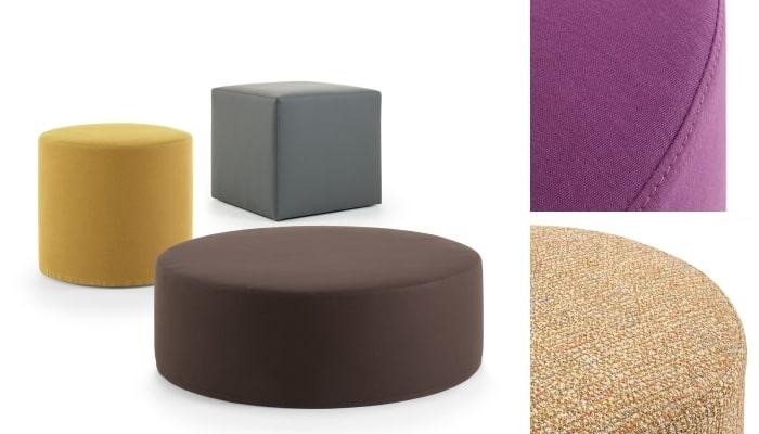 Pouf in tessuto colorato Cherie - collezione diotti.com