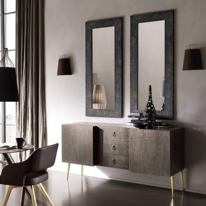 Specchio per soggiorno con cornice Asia