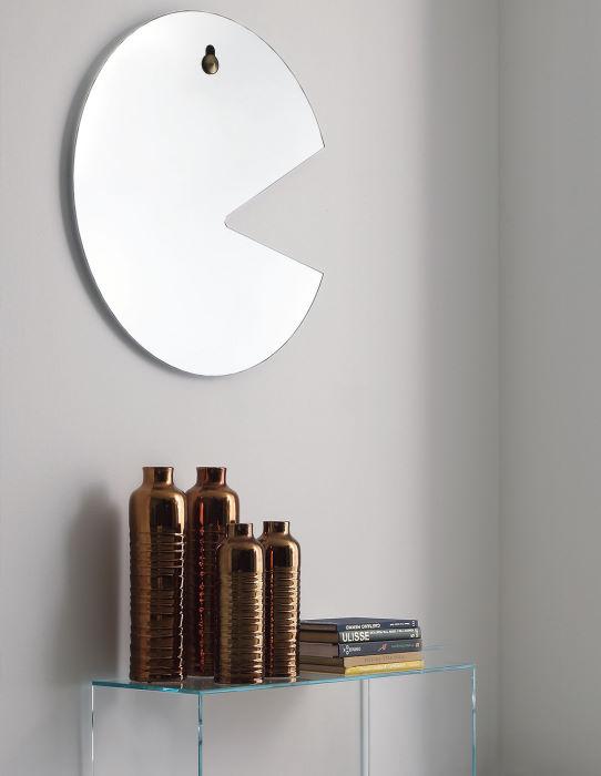Originale specchio a forma di Pac-Man
