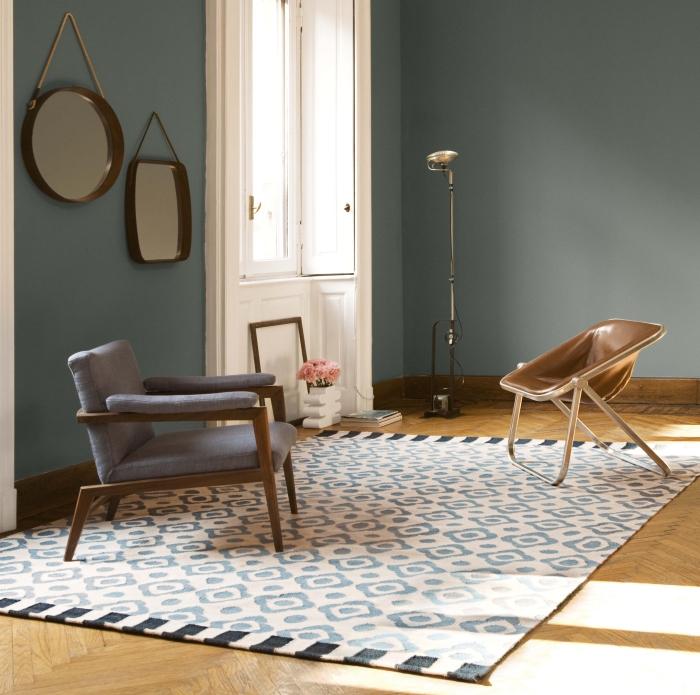 arredaclick blog - come posizionare un tappeto in salotto, sala da ... - Tappeto Soggiorno Nero