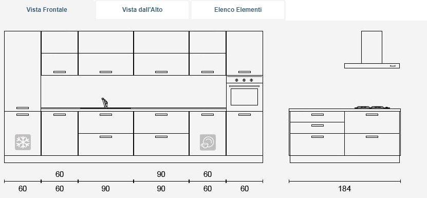 Isola Cucina Dimensioni Minime. Stunning Dimensioni Minime Cucina ...