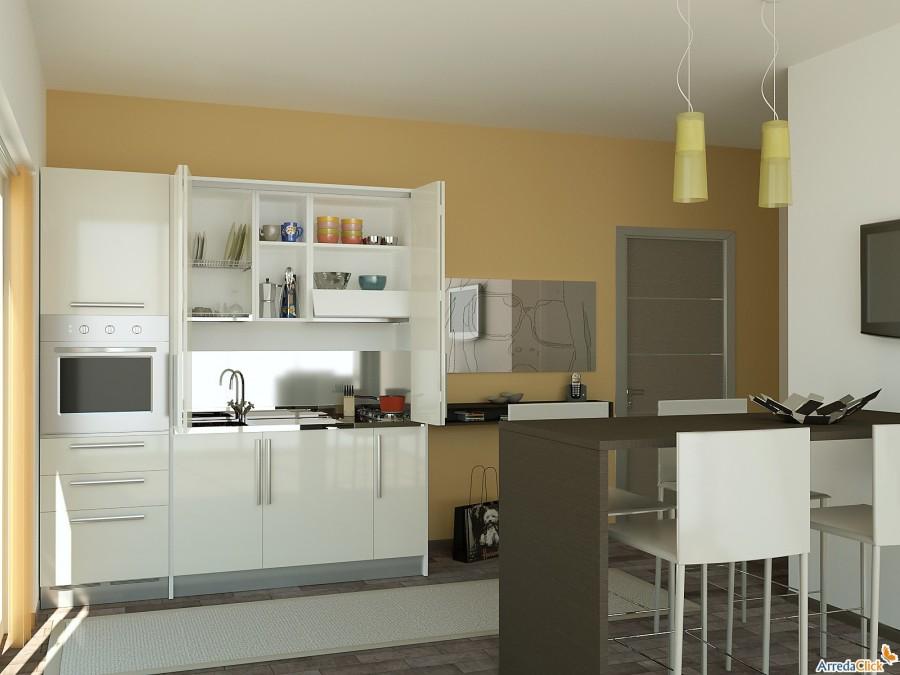 Arredaclick blog una mini cucina per arredare una for Concetti di soggiorno