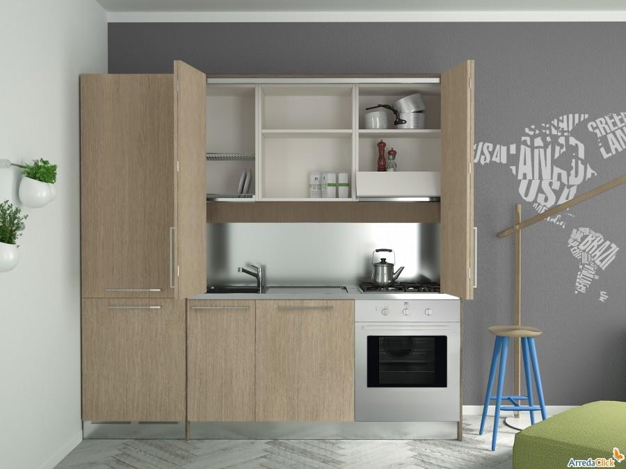 Arredaclick blog una mini cucina per arredare una piccola casa arredaclick - Cucine armadio ikea ...