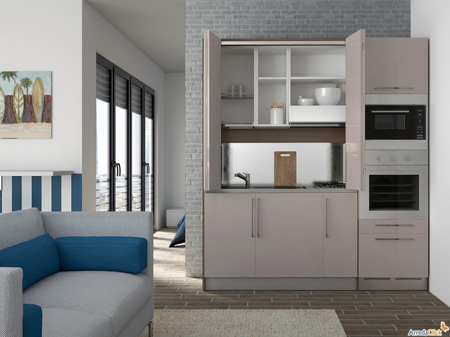 Idee una mini cucina per arredare una piccola casa arredaclick - Arredare cucina piccola rettangolare ...