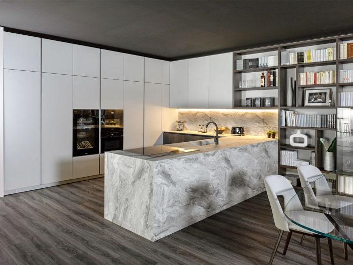 Cucina in effetto marmo KLab 01