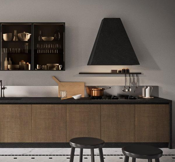 Mobili cucina in legno impiallacciato
