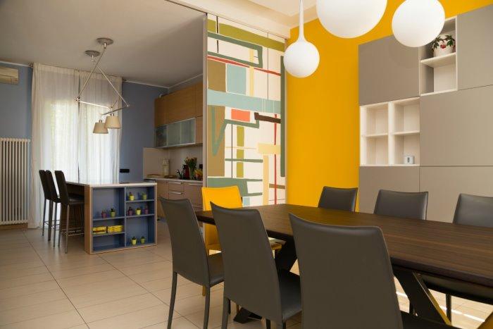 Idee - Il progetto: un\'idea per dividere cucina e sala da pranzo ...