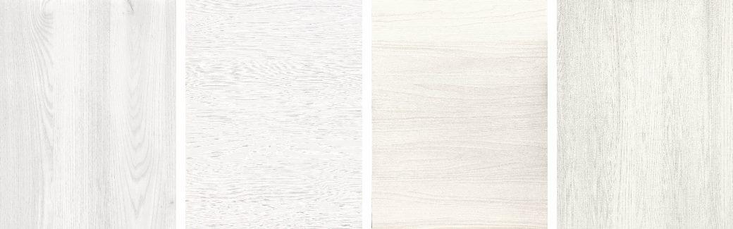 Esempi di finiture di legno bianco per ante cucina