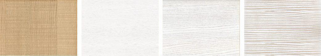 Finiture legno segato e laccato bianco