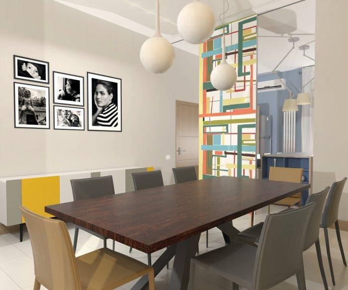 Idee il progetto un 39 idea per dividere cucina e sala da pranzo arredaclick - Arredare sala con cucina a vista ...