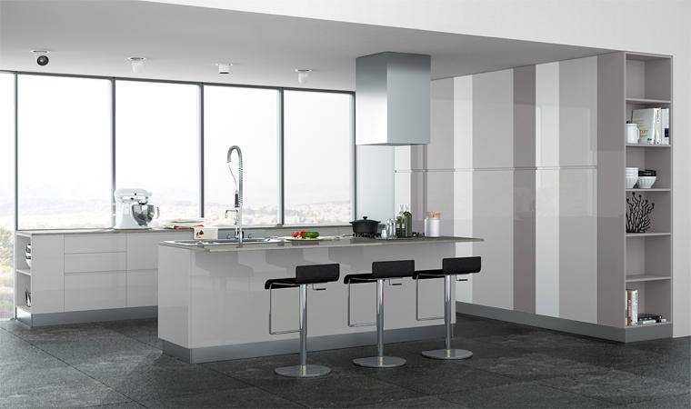 Idee il progetto di matteo soggiorno stretto e lungo for Piccoli piani cucina con isola