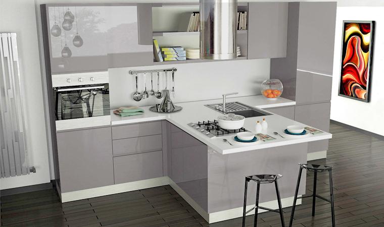 Idee Cucina Piccola Con Isola.Cucina Ad Angolo Piccola Con Isola Chefs4passion
