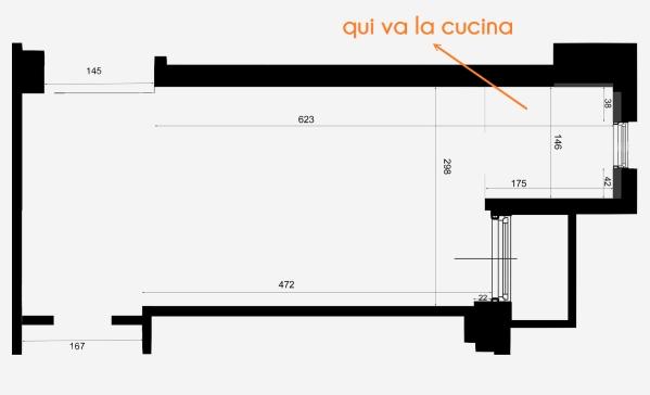 ARREDACLICK BLOG - Il progetto di Matteo: soggiorno stretto e lungo con cucina ad angolo ...
