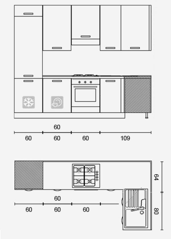 Cucina Con Isola Misure. Simple Dimensioni Cucine Con Isola ...