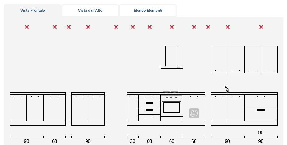 Arredaclick blog il progetto di andrea mobili per la - Altezza pensili cucina da top ...