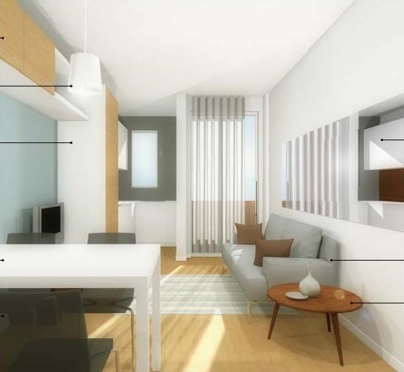 Idee il progetto di matteo soggiorno stretto e lungo con cucina ad angolo arredaclick - Idee per arredare soggiorno con angolo cottura ...