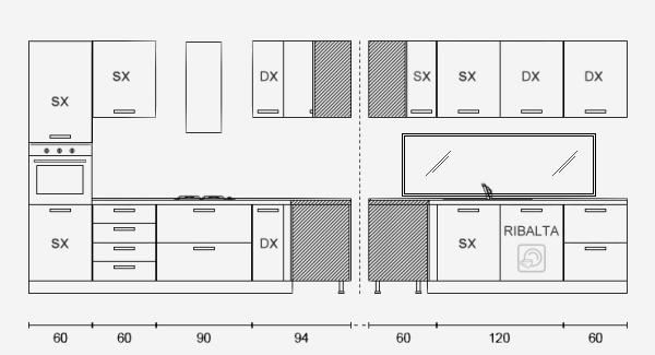 Idee il progetto di matteo due cucine su misura nella - Progetto cucina angolare ...