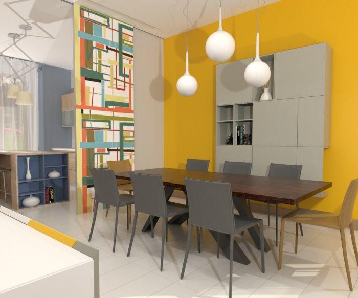 Idee Il Progetto Un 39 Idea Per Dividere Cucina E Sala Da