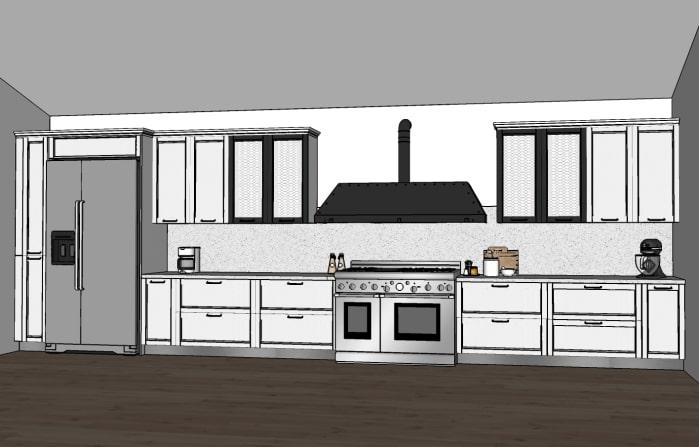 Piantina cucina di 7 metri lineari