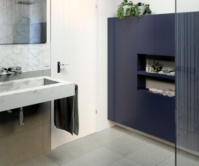 Progetto bagno: armadio componibile poco profondo