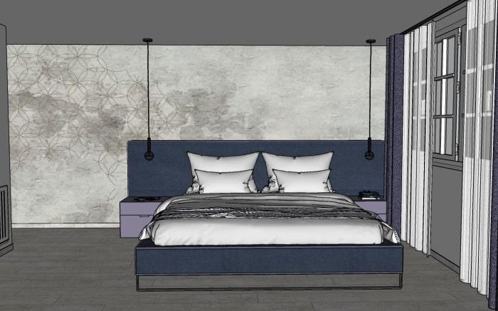 Progetto camera da letto: bozza del progetto