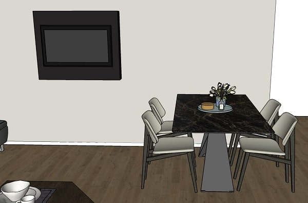 Posizionamento ideale per un porta TV da parete orientabile