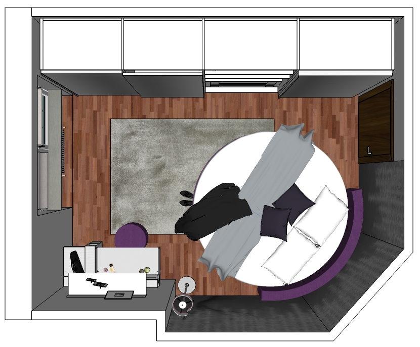Idee il progetto di chiara 2 come inserire un letto for Planimetrie della casa mobile con una camera da letto