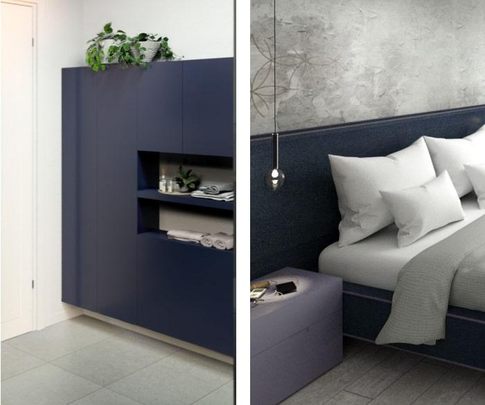 Progetto appartamento: esempi di abbinamento con il blu