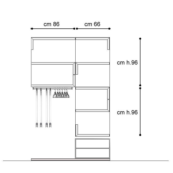 Armadio 130 cm casamia idea di immagine for Affitti di cabina iowa lansing ia