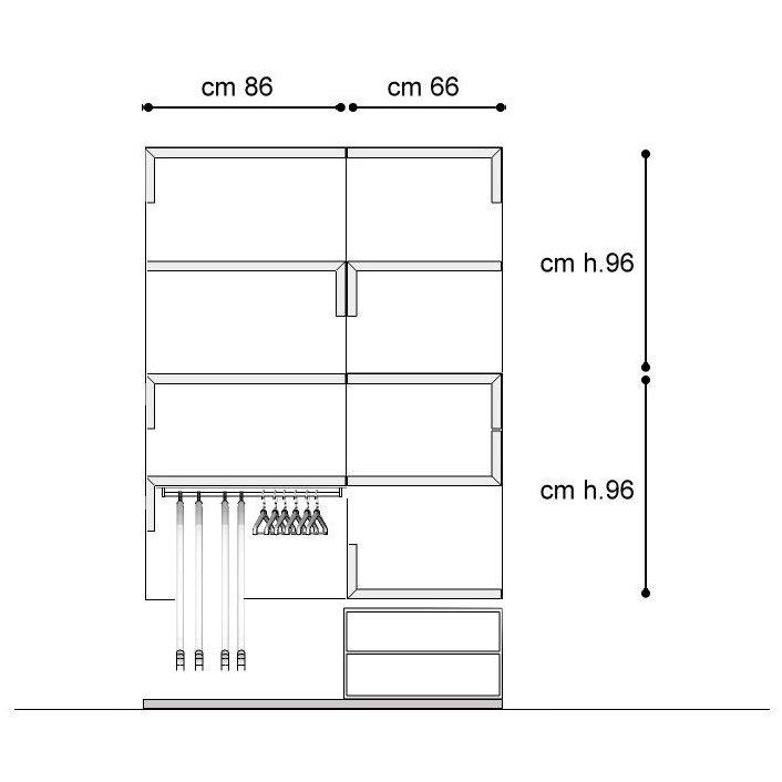 Idee il progetto di sara una cabina armadio in for Piccoli piani di casa cabina di log