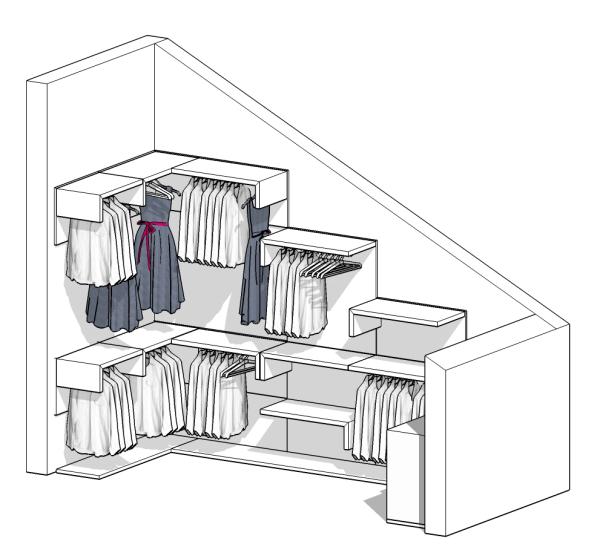 Misure Minime Per Cabina Armadio.Idee Il Progetto Di Pamela Una Cabina Armadio In Mansarda