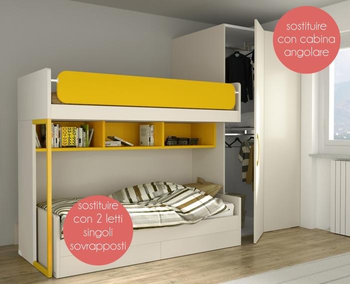 Arredaclick blog   il progetto di pamela: una cameretta di 12 mq ...