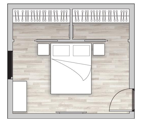 Cabina armadio per due persone con doppio accesso