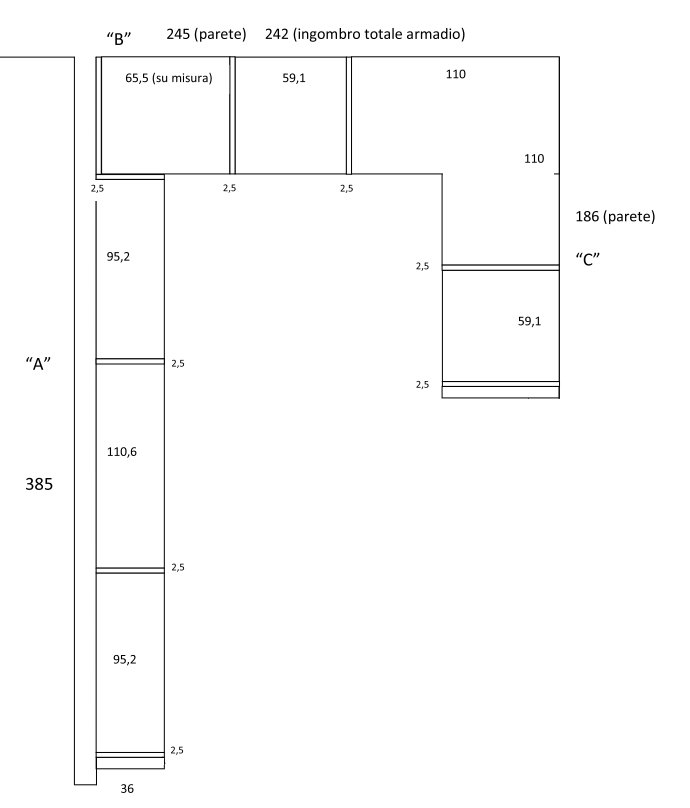 Progetto realizzato dal Cliente - mobile ad angolo per soggiorno