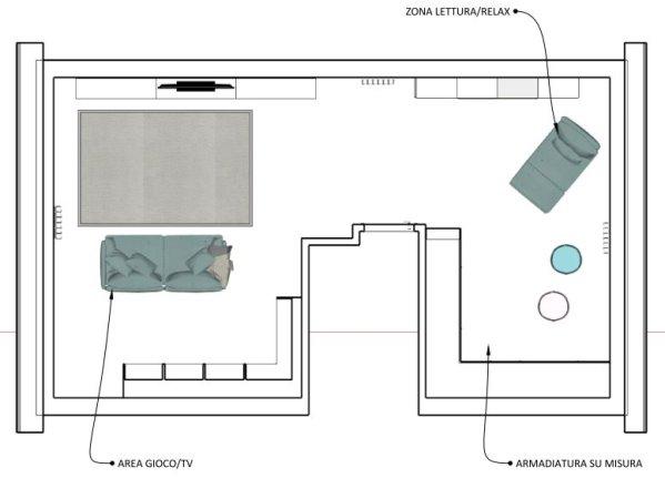 Idee - Trasformare una mansarda abitabile in soggiorno / salotto ...