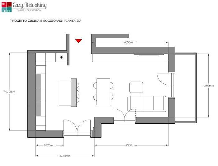 ARREDACLICK BLOG - Il progetto #1: un open space con cucina a ...