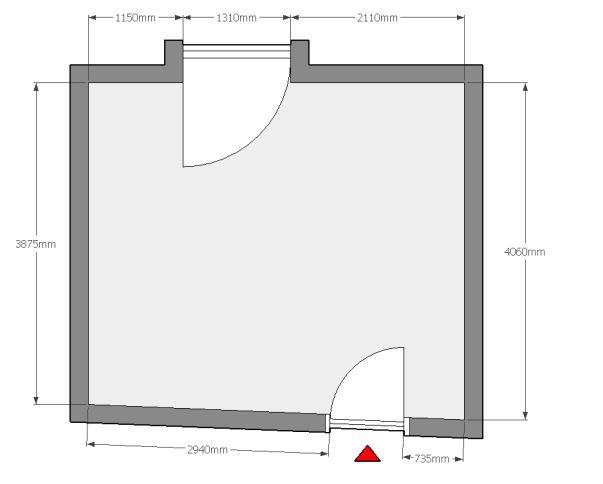 La pianta 2D dello studio home office